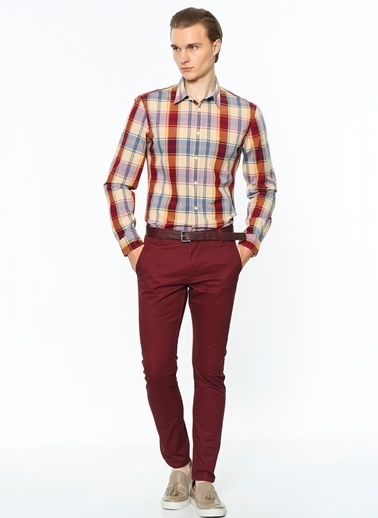 Dockers Pantolon | Skinny Tapered Bordo